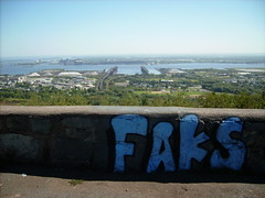 FAKS in duluth. (HipsterPosse.) Tags: street art minnesota graffiti minneapolis spraypaint duluth faks t1wsd