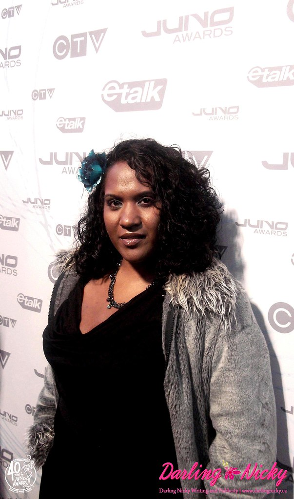 Darling Nicky on Red Carpet of The Juno Awards