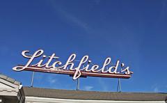 Litchfield's (skipmoore) Tags: sign bulb neon explore sanrafael litchfields