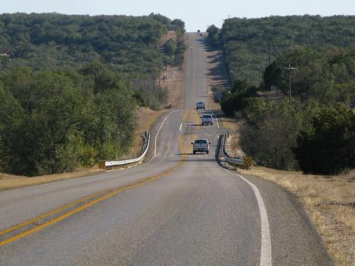 More hills, approaching Hondo, Texas, USA