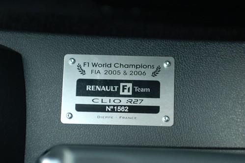 Renault Clio Sport R27 F1 Team