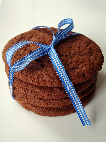 Giant chocolate sugar cookies