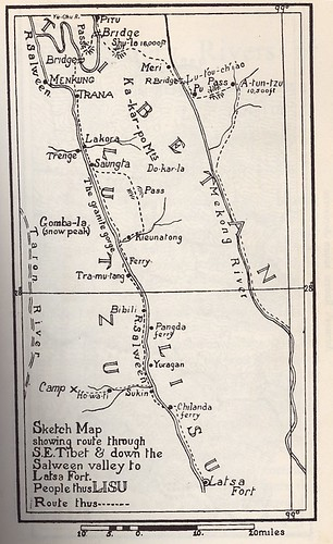 Frank Kingdon Ward's Salween map