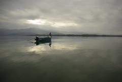 Fishing - Lake kerkini / Serres / Greece [Take 2] (Lefteris Zopidis) Tags: lake water clouds landscape greek fishing fisherman flickr hellas greece macedonia flicker waterscape serres ellas kerkini lefteris      zopidis zopidislefteris greekflickers  leyteris            greekflicker