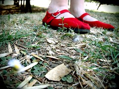 Alice / March 29th (Aldo P. Ambriz) Tags: red verde green forest happy rojo shoes alicia quote alice zapatos campo fields wonderland aliceinwonderland zapatillas danceshoes aliciaenelpaisdemasmaravillas