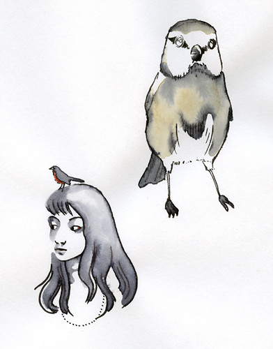 Illustration de Laure Pointereau - Oiseaux