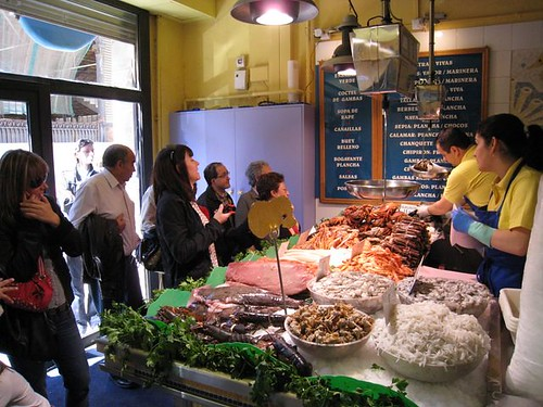 Seafood at La Paradeta, Barcelona, by ingermaaike