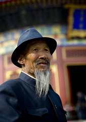 Old man with a hat, Beijing, China (Eric Lafforgue) Tags: china man beard beijing explore   kina chin cina chine xina   pekin tiongkok  chiny  kna in 0144   trungquc na   kitajska tsina