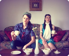When Prim and Rowdy were invited to afternoon tea (amanda pulley) Tags: tea clones rowdy prim proper eeewwwgrainy amandax2