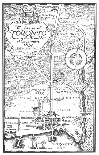 Siege of Toronto map, 1837