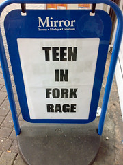 """Teen in Fork Rage"""