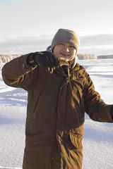 benny ja 1. kala 2 (Jeevie) Tags: rovaniemi icefishing kemijoki nikond40kit