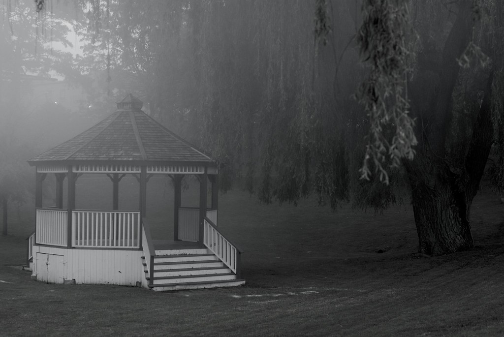 Gazebo Black and White