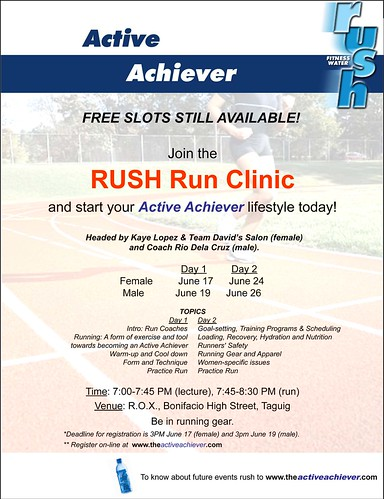 Rush Run Clinic Invite