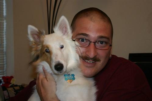 Grant & Deaf Dog Toby
