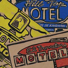 Linocut Motel Print Series