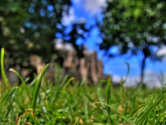 cathedral grass (monkstagg) Tags: cathedral casio devon exeter hdr exf1