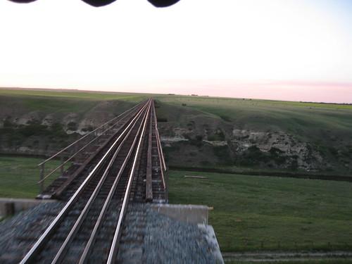 Trestle bridge in Alberta