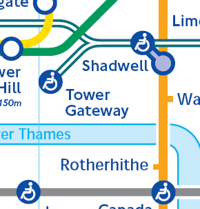 Tower Gateway on Large Print Tube Map last updated November 2007