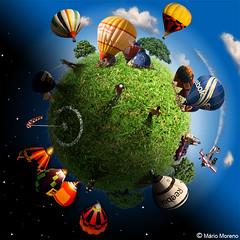 "balonismo ""weeplanet"" (Mrio Moreno) Tags: art photoshop arte baloon cartoon balo mario ps moreno ilustrao desenho balonismo montagem ilustra minimundo mariomoreno mmoreno weeplanet"