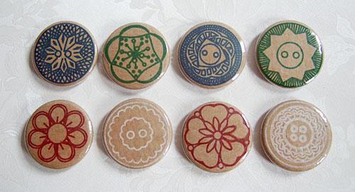 Vintage button badges