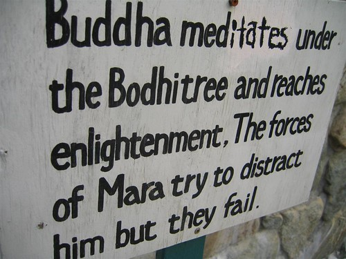 Close up of the meditation sign
