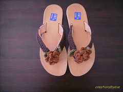 crochet flower sandals1 (creationsbyeve) Tags: flowers leather handmade sandals crochet greece