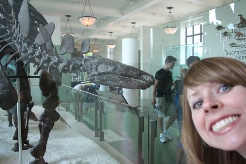 Kari and stegosaurus (her favorite)