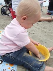 Sofia Plays with Sand