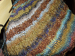 Almost completed Ladder Shawl