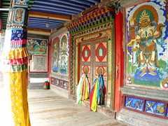 Arou Buddhist Temple in Arou, Qinghai Province, China