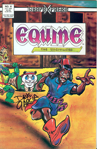 EQUINE THE UNCIVILIZED #6 - GraphXpress .. P.K. signed by Dave Garcia (( 1989 ))