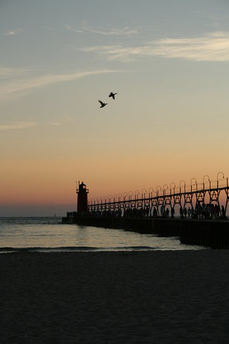 Lighthouse at South Haven Michigan
