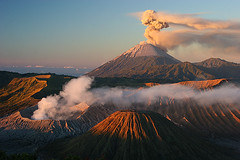 Bromo and Semeru at Sunrise (hapulcu (offline till April )) Tags: indonesia volcano java crater vulcan bromo paragon volcan gunungbromo ourplanet theperfectphotographer worldwidelandscapes worldtrekker absolutelystunningscapes rubyphotographer