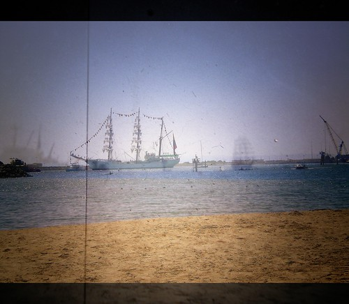 "Collage of Tall Ship ""Gloria"" through the Viewfinder"