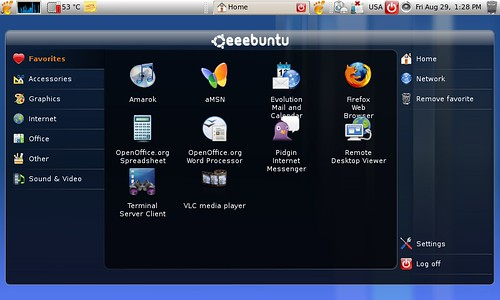 Eeebuntu Netbook Remix