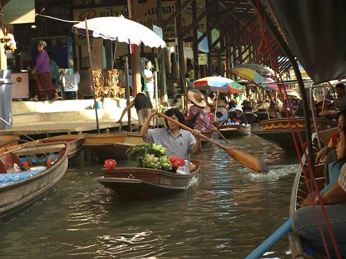 Seller in Floating Market
