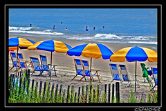 Welcome Myrtle Beach, SC HDR (NYC sharpshooter) Tags: blue sea summer love beach colors yellow landscapes perfect photographer chairs photos pics quality south beaches carolina myrtle fabulous umbrellas pixels picturesque unlimited vacations hdr the goldenglobe blueribbonwinner i platinumphoto aplusphoto flickrestrellas thebestofday gnneniyisi nikonflickraward