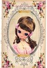Little Miss Pretty Face (ms_mod) Tags: pink cute art collage japan digital vintage paper print design mod doll pretty antique mixedmedia victorian kitsch retro ephemera etsy wideeyed bigeye dollface ledger bigeyed posedoll bradleydoll wideeye dollfacedesign