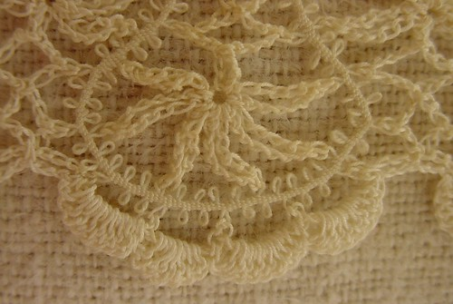 Crocheted lace with tatted cord