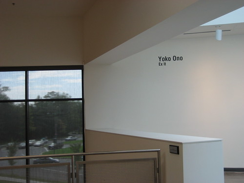 """Ex It"" by Yoko Ono at American University Museum 9/13/08 - 1 by you."