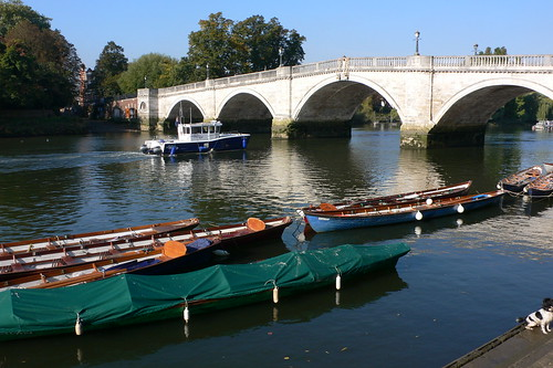 Boats at Richmond Bridge