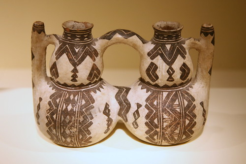 Double vessel, (thibuk'alin), Kabyle peoples, Kabylie, Algeria, 19th century, Ceramic, slip