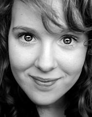 (95/365) (júlía ∆) Tags: portrait blackandwhite eyes gimp curls pop edit mygallery
