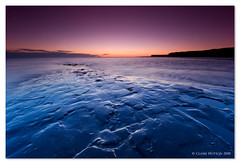 (Claire Hutton) Tags: uk blue sunset england seascape southwest beach silhouette coast rocks purple south wideangle cliffs shore dorset coastline kimmeridge afterglow ledges purbecks jurassiccoast isleofpurbeck