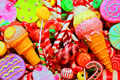 Cherry Blissmas! (boopsie.daisy) Tags: christmas holiday color ice colors cane vintage season cherry yummy rainbow cherries colorful candy cone stripes treats cream garland sugar delicious cupcake ornaments sweets scrumptious swirl lollipop candycane sherbert bobon sundea
