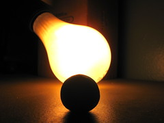 clay ball (Maʝicdölphin) Tags: orange black macro lightbulb canon ball powershot clay playdoh backlighting a590