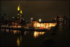 Frankfurt Skyline (#MariaOrtega) Tags: sky reflection rio skyline germany main reflejo alemania brigde frankfurtammain ih rive nightimage