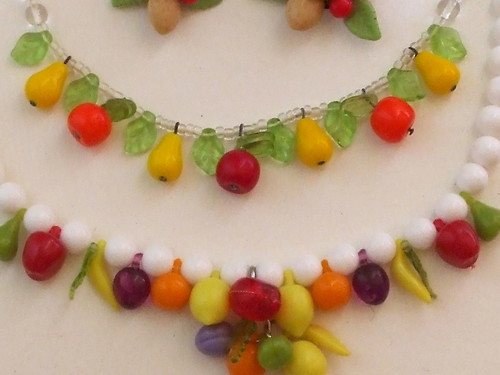 Fruit necklaces.