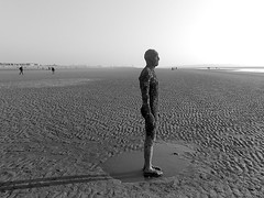 Solitude (Grateful Ghoul) Tags: art liverpool installation gormley antonygormley anotherplace crosbybeach gormleystatues